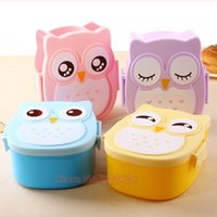 Wholesale YGS Y004 Bento box Cartoon cute owl Japan jogo de panelas Bento Lunch meal box tableware Easy Open microwave oven