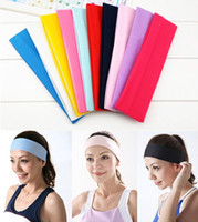 Wholesale Candy Color Vogue Women Yoga Sport Headband Simple Hairband Elastic cm Elastic Stretch Bandanas Hair Accessories Headbands ZA1467