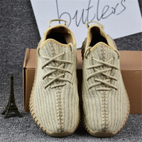 Cheap 2017 Adidas Yeezy Best Quality Boost Yeezy 350 Shoes Pirate Black Moonrock Tan White Kanye West 350 Boosts Size 11.5 Running Shoes With Box