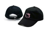 achat en gros de hello snapbacks-Nouveaux Hot Sale Hello Kitty Ball Caps Forme Baseball Cap Broderie Snapback Adjustbale Snapbacks Femme Filles Lady Summer Sun Chapeaux Chapeau de golf