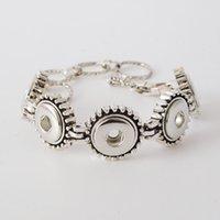 african bead leather bracelet - 12mm metal alloy noosa chunk ginger snap button bracelets