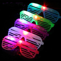 Wholesale LED Light Glasses Flashing Shutters Shape Glasses LED Flash Glasses Sunglasses Dances Party Supplies Festival Decoration F2017182