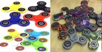 Big Kids acrylic color - HandSpinner Fingertips Spiral Fingers Fidget Spinner EDC Hand Spinner Acrylic Plastic Fidgets Decompression Gyro Toys camo Solid color