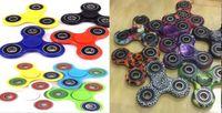 achat en gros de spirales en plastique-HandSpinner Fingertips Spirale Fingers Fidget Spinner EDC Spinner à la main Acrylique Plastique Fidgets Décompression Gyro Toys camo Couleur solide