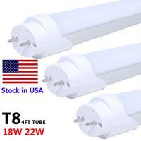Wholesale T8 LED FT G13 Tube Lights Foot W W SMD Single Row Light LED Flouresent Lamp AC85 V
