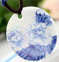 Wholesale S925 Jade Pendant - torque pendant Necklaces wholesale handmade artwork Porcelain necklace S925 calcedony jade carnelian lady original designer US unsex women