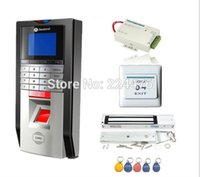 Wholesale Bio Single Door Fingerprint and RFID Card Access Control System Time Attendance Kits Magnetic lock