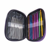 Wholesale 22 set of tools Sewing Tools Accessory knitting needles seven color aluminum crochet sweater