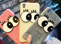 big eye hands - 2017 new arrival hair ball phone case for iphone big eyes mobile phone case for iphone iphone warm soft hand case