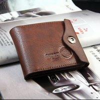 bifold windows - Leather Mens Men Bifold Purse Wallets Black Brown With ID Window Side Pocket Buckles Money Cards Holder