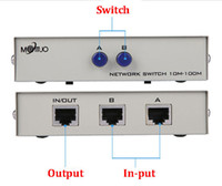 Wholesale 2 Port Network Switch manual sharing RJ45 RJ Ethernet Network Box Switcher Applications MHz in out