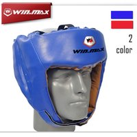 Wholesale Boxing Series Closed Type Boxing Head Guard Sparring MMA Muay Thai Kick Free Size Brace Head Protection Boxing Helmet