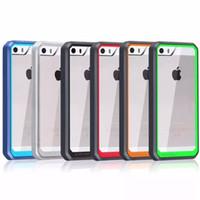 Supcase Case Hybrid TPU Bumper Transparent Housse pour PC pour iPhone 5 5S 6 6s plus Samsung Galaxy S6 edge plus Note 5
