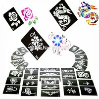 Wholesale Glitter Tattoo Stencil For Temporary Airbrush Body Paint Flash Tattoo Templates With1000 Designs