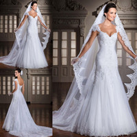 Wholesale 2017 Hot Sale Lace Mermaid Wedding Dresses Lace Back Court Train Sweetheart Neck Bridal Gowns Wedding Gowns