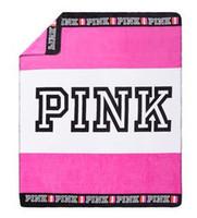 Acheter Corail rose-2017 NOUVEAU VS love Pink Blanket Throw Couvertures Canapé / Air / Literie couverture Coral pour Voyage 130 * 150cm 3 couleur option en stock