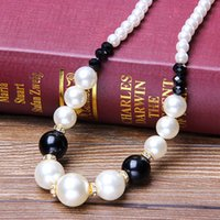 beaded chain crafts - factory Craft gift Korean pearl necklace fashion sweater chain simple and elegant autumn spring for selling cm length