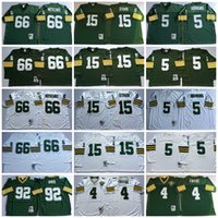 Football bart starr football - Throwback Football Jerseys Ray Nitschke Jersey Vintage Brett Favre Bart Starr Paul Hornung Reggie White Mens Stitched Jersey