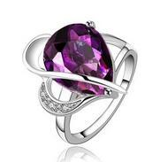 acting sides - Europe and The Elegant Big Act The Role Ofing Is Tasted Hot Style Crystal Jewelry High grade Purple Gem Ring