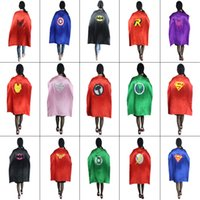 Wholesale HOT cm Costume Adult Superman Superhero Cape Batman Spiderman Supergirl Adult capes styles new arrival