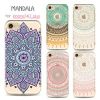 Wholesale For iPhone Plus Case Clear Soft TPU Cover Totems Floral Mandara Pattern Cases Bohemia For iPhone s plus s Cellphone Shell Free DHL