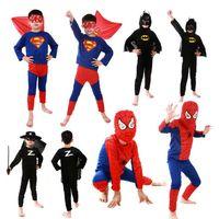 al por mayor reproducir ropa de niño-Nuevo héroe Grils Boys Spiderman ropa superhombre Batman Zoro trajes niños traje de fiesta cosplay niños Halloween regalo bebé Cos-play ropa