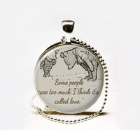 South American animal quotes - Winnie the Pooh quote necklace inspirational Love quote classic pooh pendant necklace Jewelry
