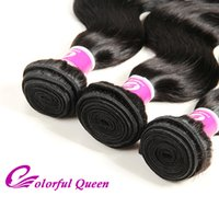 Le paquet de cheveux de Virginie de Malaisie offre 3 pcs Cheap Body Wave 7A Unprocessed Malaisie Virgin Human Hair Weave Extensions Wavy Hairstyle