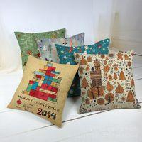 Wholesale Hot Sale Cheap Flax decorative Throw pillows Decorative pillows