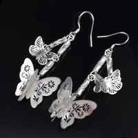 Wholesale Hot Selling Women s Jewelry Earrings YJY Fashion Butterfly Silver Plated Stud Earrings Wedding Engagement Earrings
