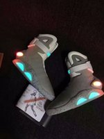 aka racing - 2017 Air Mag AKA Marty McFly s Basketball Shoes Glow In The Dark Sole Mag Limited Edition Air Mags Sneaker for Men High Quality With Boxes