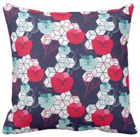 Voitures d'éléments France-Motif floral avec coussinets jumelés à motifs géométriques, coussin Squar et housse de coussins de voiture,