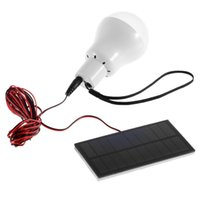 Wholesale Portable W V lumens Solar Power LED Bulb Lamp Outdoor Camping Tent Fishing Lamp Lighting