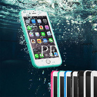 Wholesale For Iphone S7 Waterproof Case TPU Rubber Full Boday Cover Dust proof Underwater Diving Cases For iphone s s plus s7