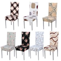 Wholesale Removable Stretch Elastic Modern Minimalist Slipcovers Home Style Cotton Chair Covers Home Hotel Banquet Seat Covers