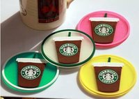 Wholesale Starbucks silicon Coasters Cup Cushion Holder Non slip heat insulation Coasters Cup Mat