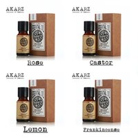 Wholesale Famous brand AKARZ Pure Rose Castor lemon Frankincense Essential Oils Pack For Aromatherapy Massage Spa Bath