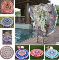 Wholesale Beach Towels Mandala Shawl Wrap Yoga Mat Round Carpets Printed Tablecloth Bohemian Beach Towel Serviette Covers Chiffon