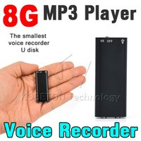 Wholesale Mini in Stereo MP3 player GB G Digital Audio Voice Recorder with Storage USB Flash Drive Pen Dictaphone Audio player