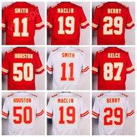 American 11 <b>Alex Smith</b> Football Jerseys Hombre 19 Jeremy Maclin 50 Justin Houston 29 Eric Berry Jersey Deporte Rojo Blanco 87 Travis Kelce