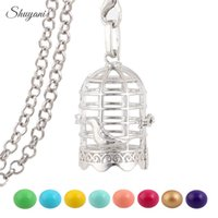 antique baby plate - Antique Angel Baby Hollow Bola Birdcage Necklaces for Harmony Pregnant Women Cage Locket Necklaces Jewelry
