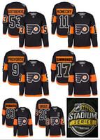 Série de hockey France-2017 Stadium Series Premier Hockey Jersey Philadelphia Flyers # 53 Shayne Gostisbehere # 11 Travis Konecny # 9 Ivan Provorov # 28 Claude Giroux