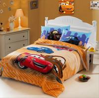 Wholesale New Design Cartoon Kids pc Bedding set Cotton Children Fashion Cartoon Designs Duvet Cover Bedsheet Pillowcase