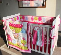 baby girl nursery bedding sets - active printing cotton baby girl cot bedding set cribs bedding comforter bumper bedsheet hot sale baby products nursery accessories