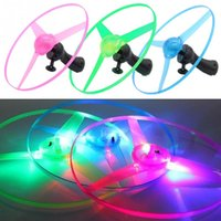 ball frisbee - pc Outdoor Boomerangs Flying Saucer UFO Toys LED Light Spin Frisbees Toy
