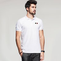 Wholesale 2017 New French Brand Poloshirt Spring Summer Polo Shirt Printed Men s Short Sleeve Lapel Men s Europe and American Three Color