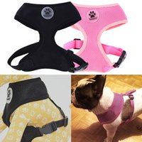 Wholesale ASLT Adjustable Soft Breathable Dog Harness Nylon Mesh Vest Harness for All Size Dogs Cat Pets Chest Strap Leash Set Colors