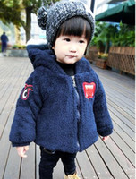 Wholesale The new year old girl baby winter cotton padded jacket boy cotton padded jacket children thickening cotton padded clothes add wool
