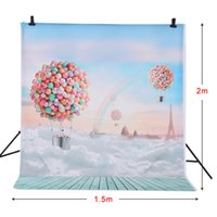 Wholesale ackdrop support Andoer m Photography Background Ballons Rainbow Blue Sky Pattern Photo Studio Backdrop for Children Kids Portrait Sh