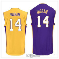 Wholesale Mens Brandon Ingram purple yellow black white shirts jerseysLakers stitched name and logs check before sending out fast shipping